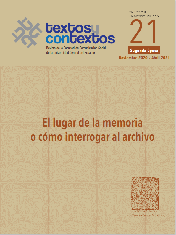 Ver Vol. 1 Núm. 21 (2020): El lugar de la memoria o cómo interrogar al archivo