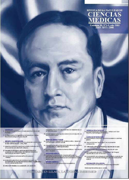 Ver Vol. 38 Núm. 1-2 (2013): Revista de la Facultad de Ciencias Médicas (Quito)