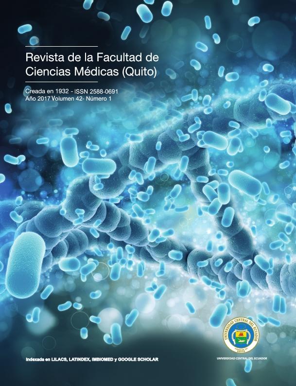 Ver Vol. 42 Núm. 1 (2017): Revista de la Facultad de Ciencias Médicas (Quito)
