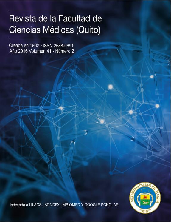 Ver Vol. 41 Núm. 2 (2016): Revista de la Facultad de Ciencias Médicas (Quito)