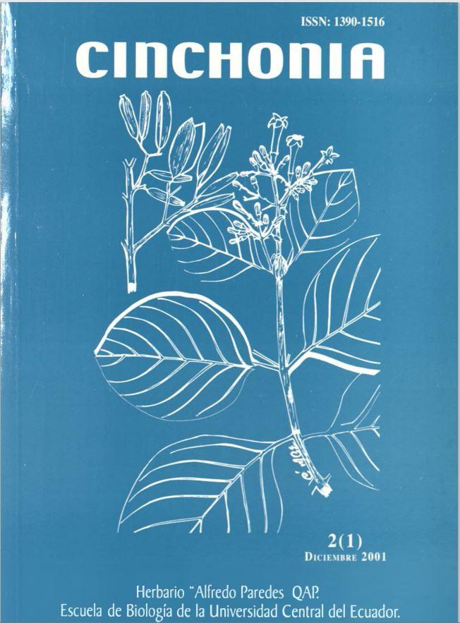 Ver Vol. 2 Núm. 1 (2001): CINCHONIA
