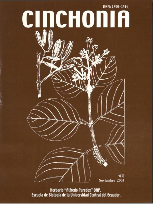 Ver Vol. 4 Núm. 1 (2003): CINCHONIA