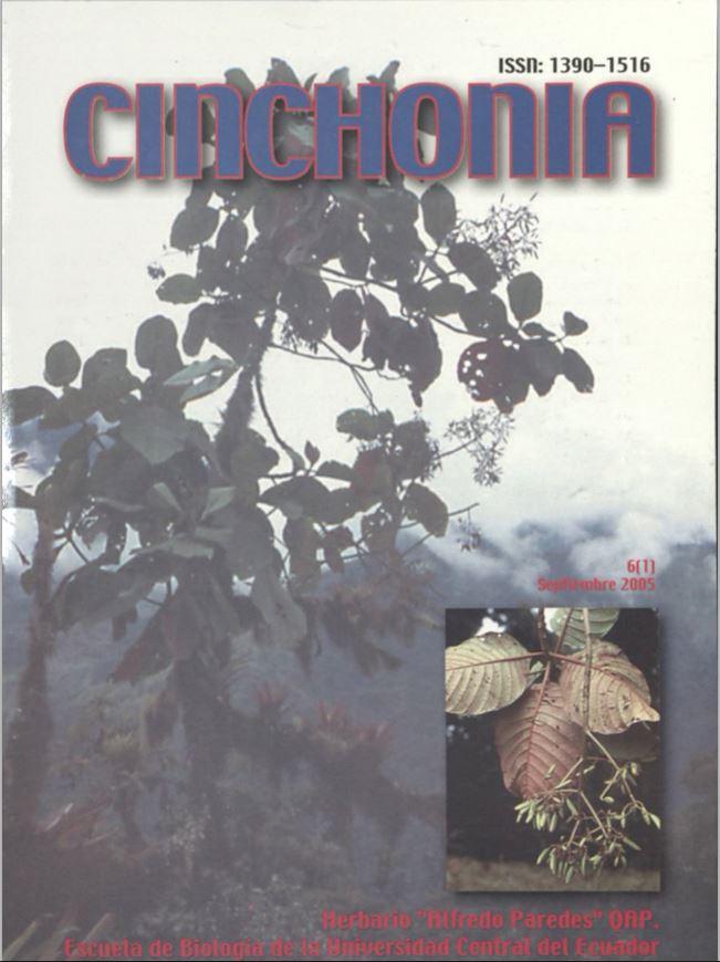Ver Vol. 6 Núm. 1 (2005): CINCHONIA
