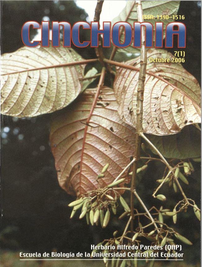 Ver Vol. 7 Núm. 1 (2006): CINCHONIA