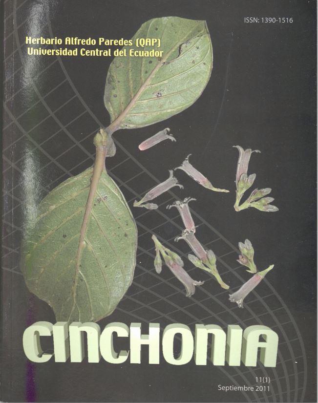 Ver Vol. 11 Núm. 1 (2011): CINCHONIA